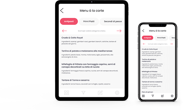 Menuadesso Menu Digitale - tablet e smartphone