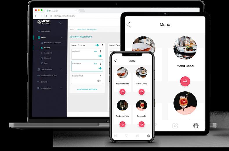 Menuadesso è un software in cloud da usare come vuoi e dove vuoi, su ogni dispositivo.